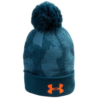 Under Armour Pom Beanie Kinder blau