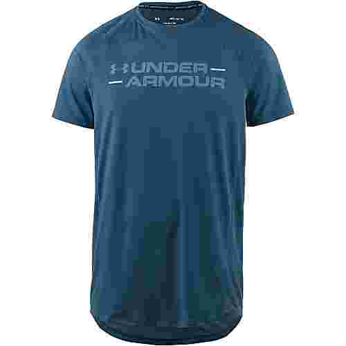 Under Armour MK1 WORDMARK Funktionsshirt Herren blue