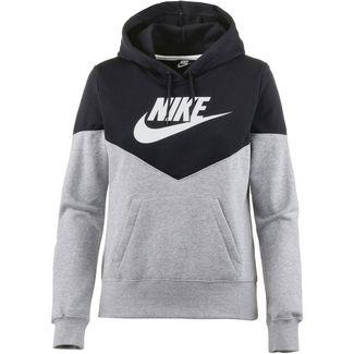 Nike NSW HRTG Hoodie Damen dark grey heather-black-white