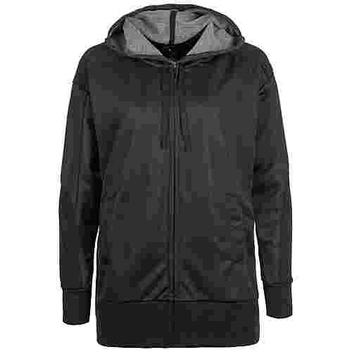 Nike Dri-FIT Shimmer Trainingsjacke Damen schwarz / grau