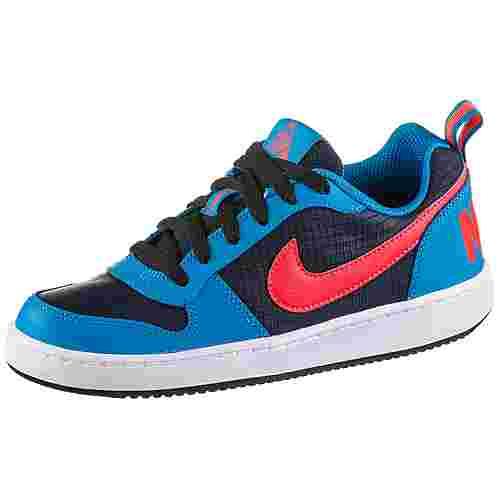 Nike Court Borough Sneaker Kinder obsidian-bright-crimson-photo-blue-white