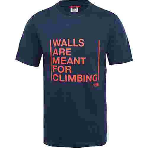 The North Face WALLS ARE FOR CLIMBING T-Shirt Herren urban navy
