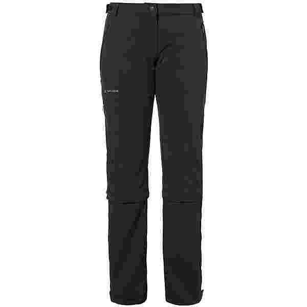 VAUDE Farley Stretch Capri T-Zip II Zipphose Damen black