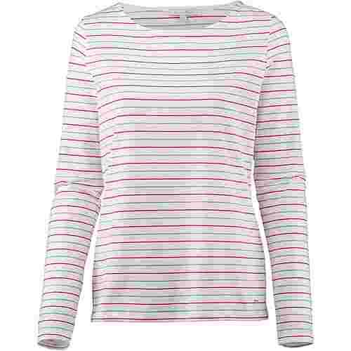 TOM TAILOR Langarmshirt Damen red mid blue white stripe