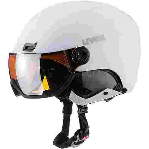 Uvex hlmt 400 visor style Skihelm white mat