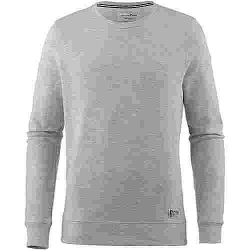 TOM TAILOR Sweatshirt Herren light stone grey melange