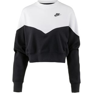 Nike NSW HRTG Sweatshirt Damen black-white-black