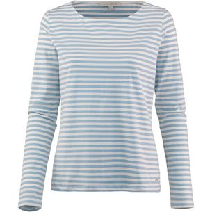 TOM TAILOR Langarmshirt Damen mid blue white stripe