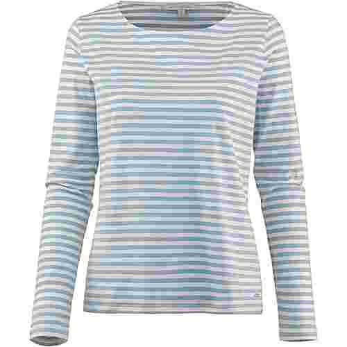 TOM TAILOR Langarmshirt Damen mid blue white stripe