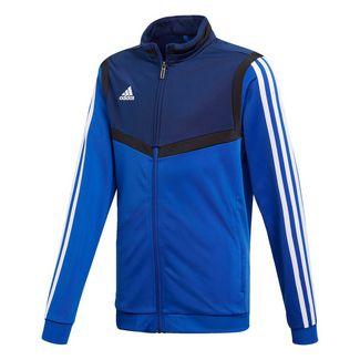 adidas Tiro 19 Polyester Jacke Sweatjacke Kinder Bold Blue / White