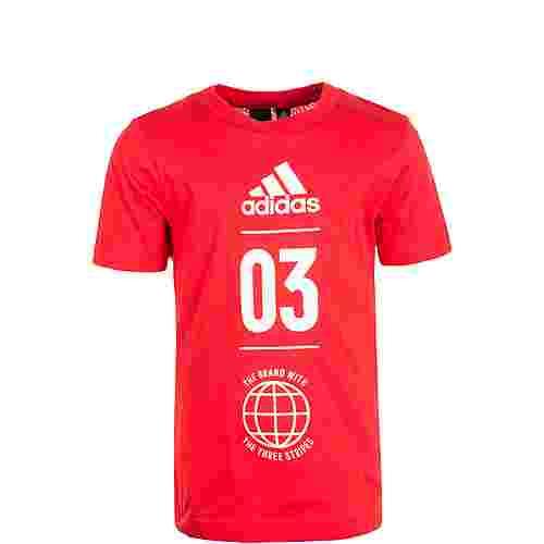 adidas Sport ID Funktionsshirt Kinder rot / weiß