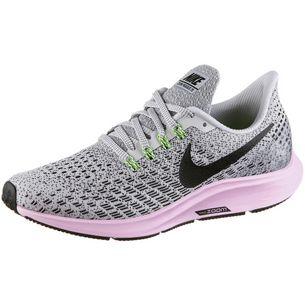 Nike Air Zoom Pegasus 35 Laufschuhe Damen vast grey-black-pink foam-lime blast