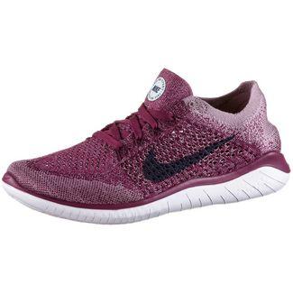Nike Free Run Flyknit Laufschuhe Damen raspberry red-blue void-white-teal tint