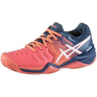 ASICS GEL-RESOLUTION 7 CLAY Tennisschuhe Damen papaya-white