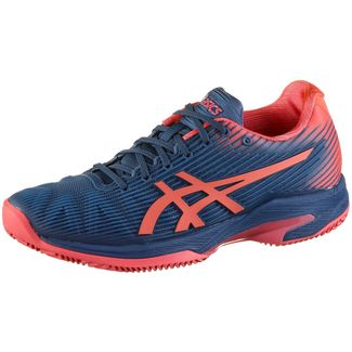 ASICS SOLUTION SPEED FF CLAY Tennisschuhe Damen grand shark-papaya