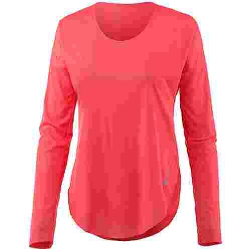 Nike City Sleek Laufshirt Damen ember glow-reflective silver