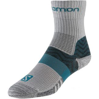 Salomon Outpath Mid Wandersocken Damen light grey-everglade