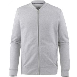 TOM TAILOR Sweatjacke Herren light stone grey melange