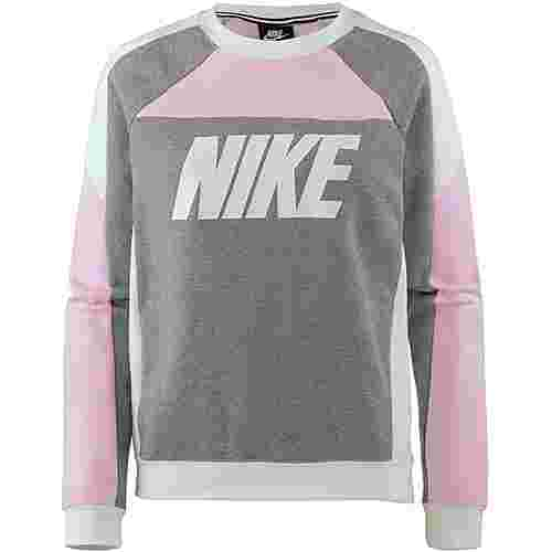 Nike Sweatshirt Damen pink foam-carbon heather-white
