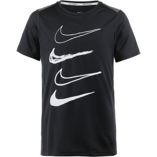 Nike T-Shirt Kinder black-thunder-grey-white