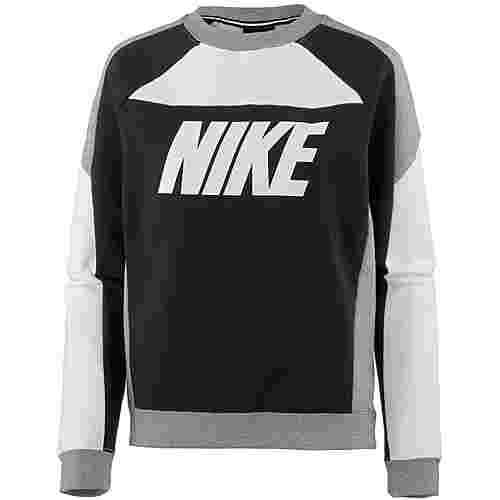 Nike Sweatshirt Damen white-black-carbon heather-white
