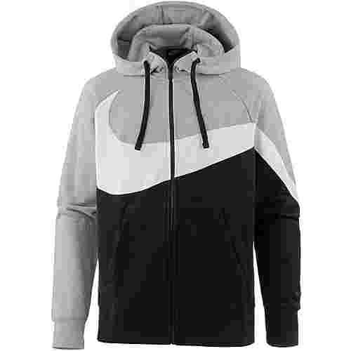 Nike NSW Sweatjacke Herren dark grey heather-white-black
