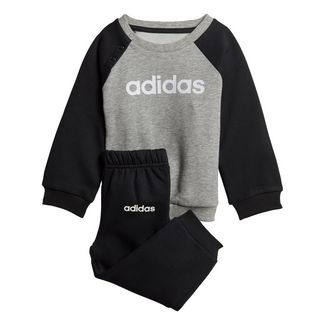 adidas Linear Fleece Jogginganzug Trainingsanzug Kinder Medium Grey Heather / Black / White