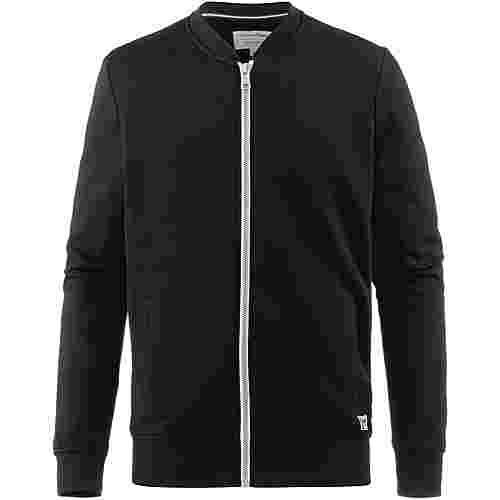 TOM TAILOR Sweatjacke Herren black