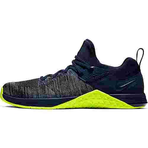 Nike Metcon Flyknit Fitnessschuhe Herren obsidian-volt