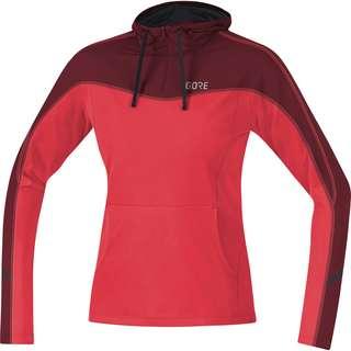 GORE® WEAR R3 Laufhoodie Damen hibiscus pink-chestnut red