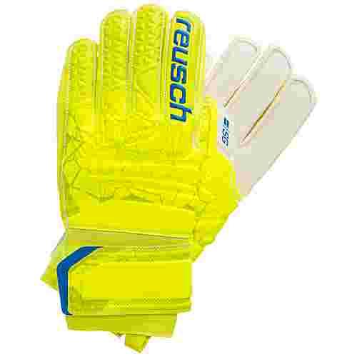 Reusch Fit Control SG Finger Support Junior Torwarthandschuhe neongelb / blau