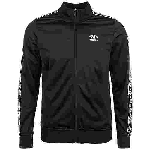 UMBRO Retro Taped Tricot Trainingsjacke Herren schwarz / weiß