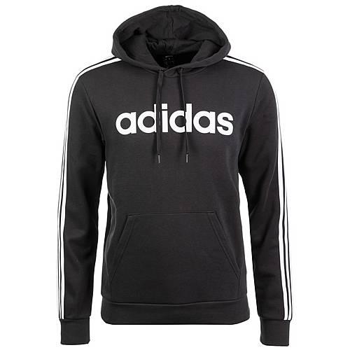 Adidas Essentials 3 Stripes Hoodie Herren schwarz weiß im