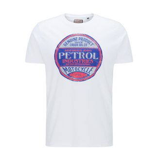 Petrol Industries Printshirt Herren Bright White