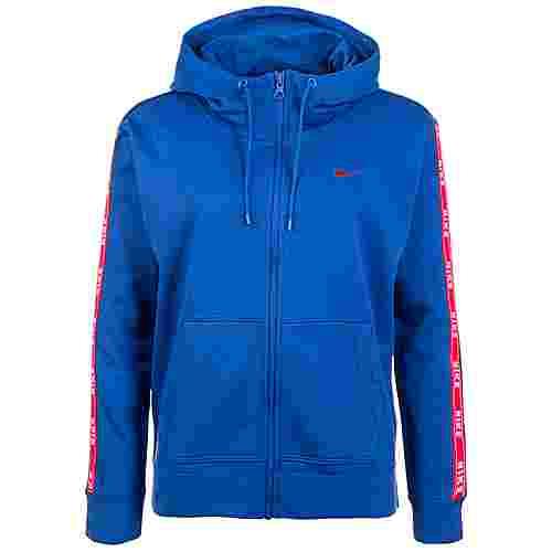 Nike Logo Tape Sweatjacke Damen blau / rot