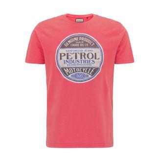 Petrol Industries Printshirt Herren Red Coral