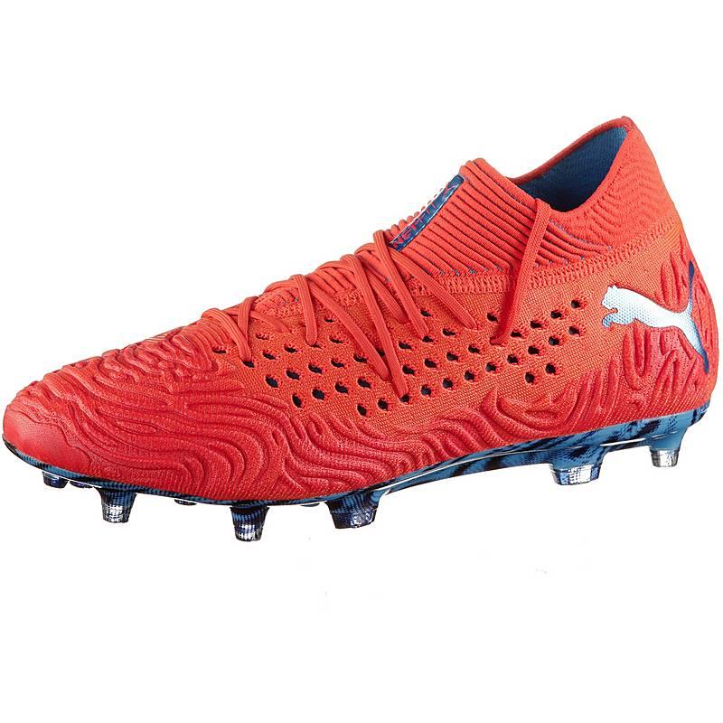 4cb4c81f688 PUMA FUTURE 19.1 NETFIT FG AG Fußballschuhe Herren red blast-bleu azur