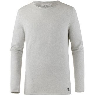 TOM TAILOR Strickpullover Herren light stone grey melange