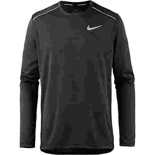 Nike Dry Miler Laufshirt Herren black-black-reflective silv