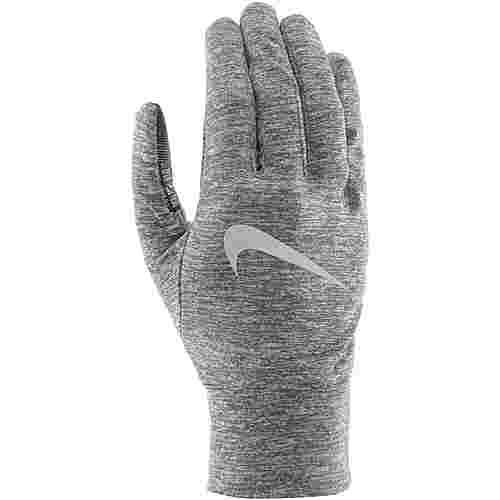 Nike Dry Laufhandschuhe dark grey-heather-sil