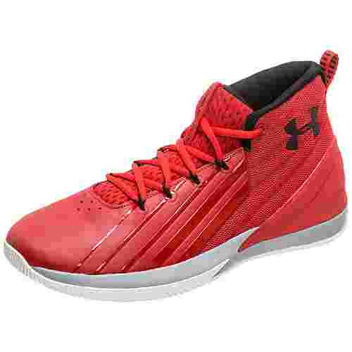 Under Armour Lockdown 3 Basketballschuhe Herren rot / grau