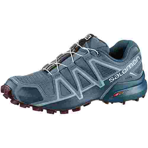 Salomon SPEEDCROSS 4 Trailrunning Schuhe Damen bluestone-mallard blue-dark purple