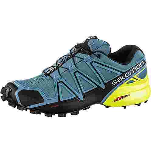 Salomon SPEEDCROSS 4 Trailrunning Schuhe Herren bluestone-black-sulphur spring