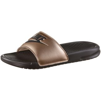 Nike Benassi JDI Badelatschen Damen metallic red bronze-thunder grey