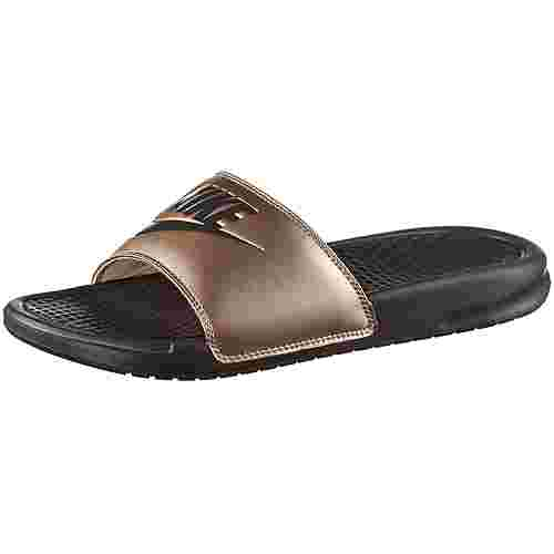 Nike Benassi JDI Sandalen Damen metallic red bronze-thunder grey