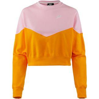 Nike NSW HRTG Sweatshirt Damen orange peel-med soft pink-white