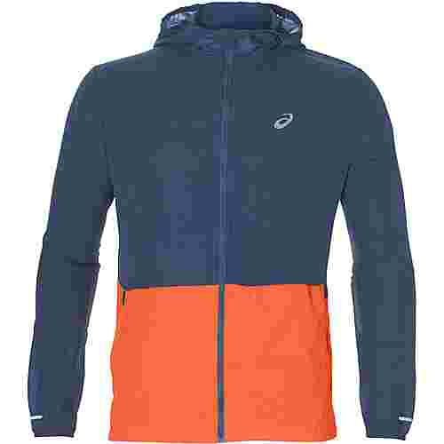 ASICS Packable Laufjacke Herren grand shark-nova orange