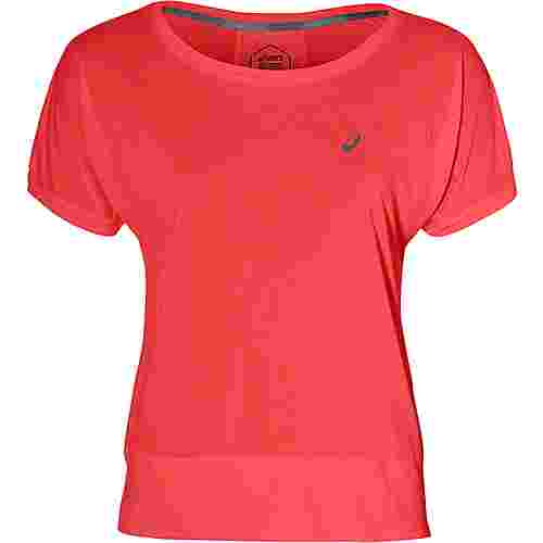 ASICS Laufshirt Damen flash coral