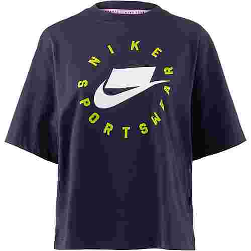 Nike NSW T-Shirt Damen obsidian-obsidian-summit white
