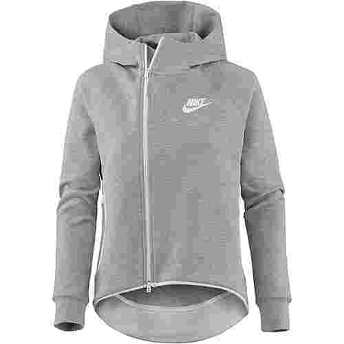 Nike NSW Tech Fleece Sweatjacke Damen dark grey heather -white